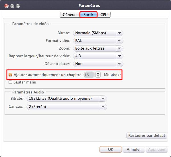 Xilisoft AVI en DVD Convertisseur pour Mac
