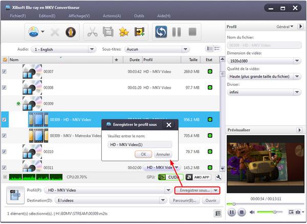 Xilisoft Blu-ray en MKV Convertisseur