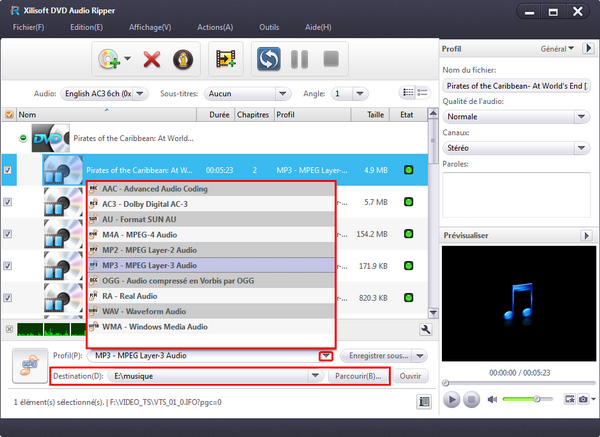 Xilisoft DVD to Audio Converter