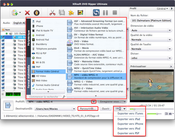 Xilisoft DVD to Video pour Mac