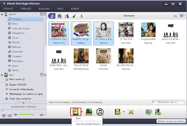 transférer des fichiers entre iPhone, iPod, iPad