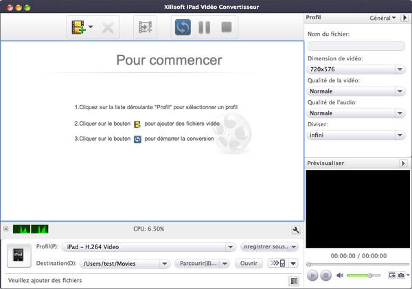 Xilisoft ipad vid o convertisseur pour mac captures d 39 cran for Mac fenetre hors ecran