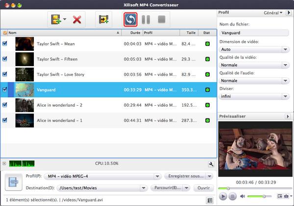 Xilisoft AVI en MP4 Convertisseur pour Mac