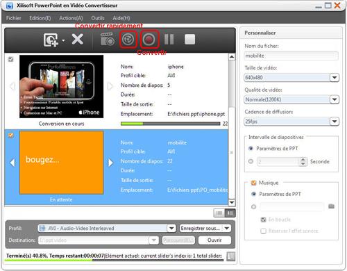 Xilisoft PowerPoint en Vidéo Convertisseur