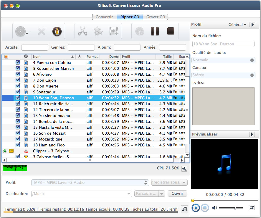 Convertisseur Audio Pro pour Mac