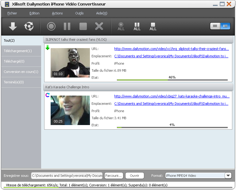 Xilisoft Dailymotion iPhone Convertisseur