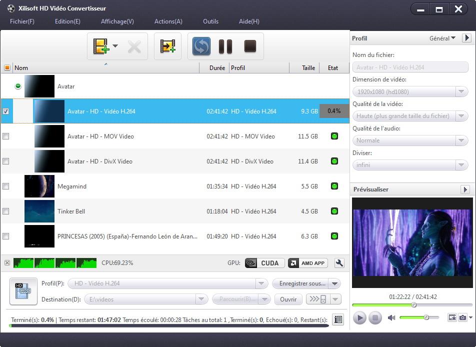 ����� ����� ������� Xilisoft HD Vid�o Convertisseur