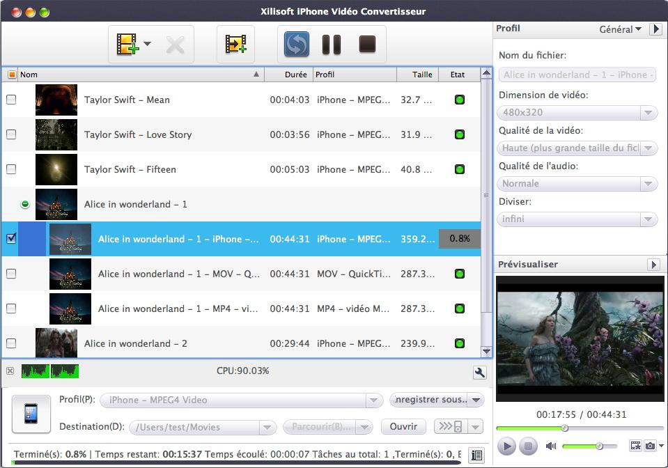 Xilisoft iPhone Video Convertisseur pour Mac