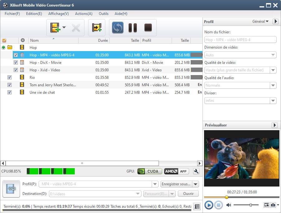 Xilisoft Mobile vidéo Convertisseur