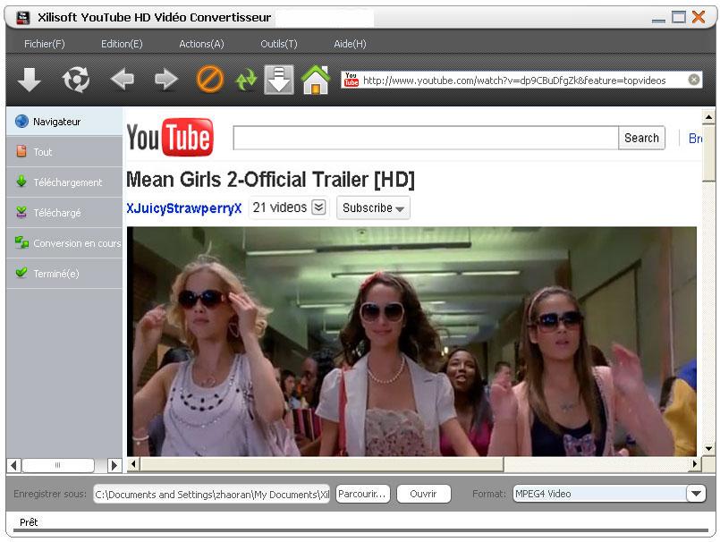 Xilisoft YouTube HD Vidéo convertisseur