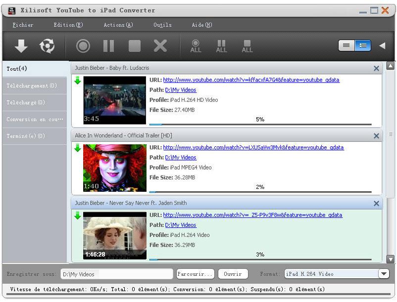 Xilisoft YouTube iPad Convertisseur