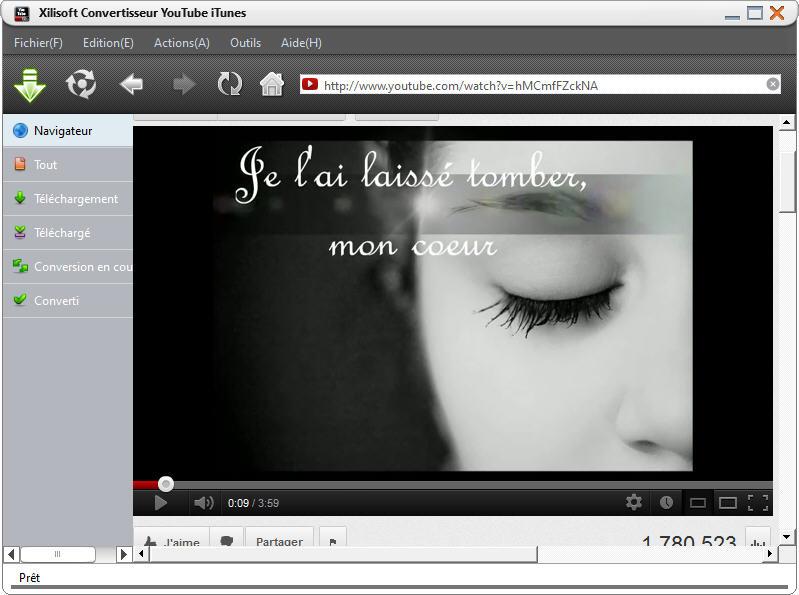 Xilisoft Convertisseur YouTube iTunes - Capture d'écran